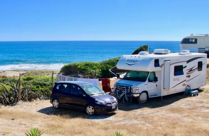 Vanilla Guerrilla and Honda on the Baja beach