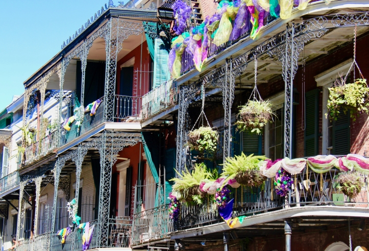 French Quarter balconies laurie best photo