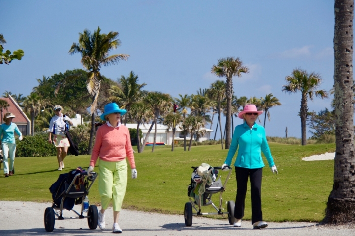 two women golfers laurie best photo