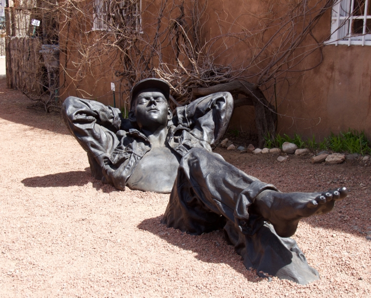 reclining man statute laurie best photo